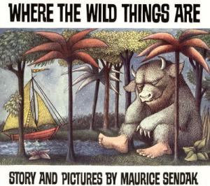 Reading Where the Wild Things Are with my little wild thing