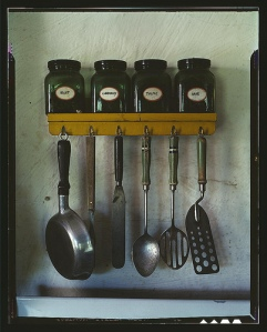 Antique cooking utensils