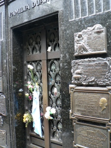 Eva Peron's final resting place