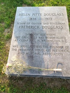 Grave site of Helen Pitts, 2nd wife of Frederick Douglass