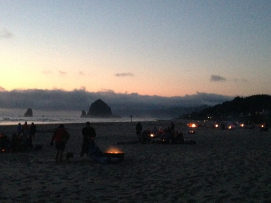 Cannon Beach and bonfires