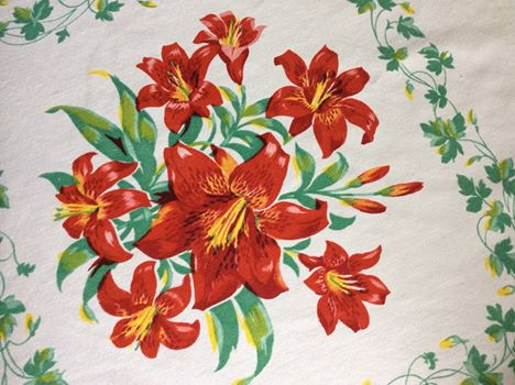 Tablecloth with lilies