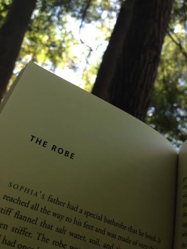 Reading a book in the hammock