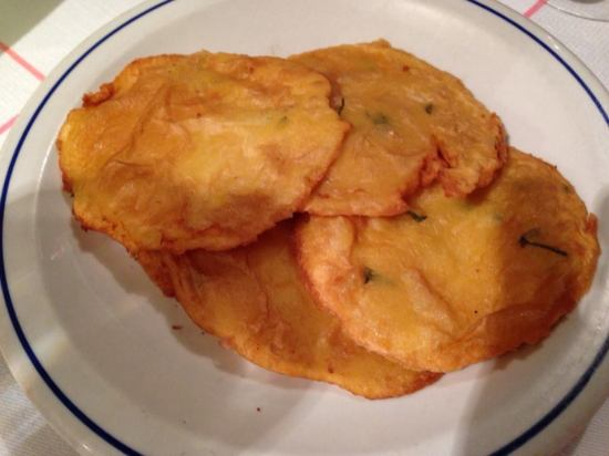 Fritters made from chickpea flour