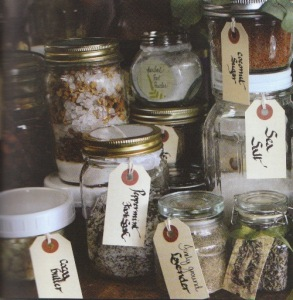 Jars of herbal preparations