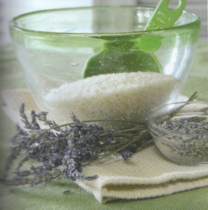 Lavender and herbal spa ingredients