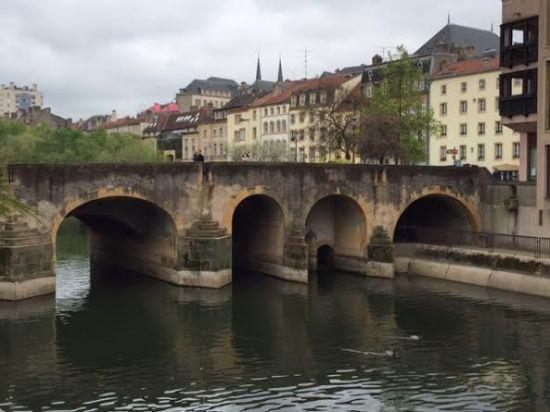 Bridge over Moselle River, Metz, France