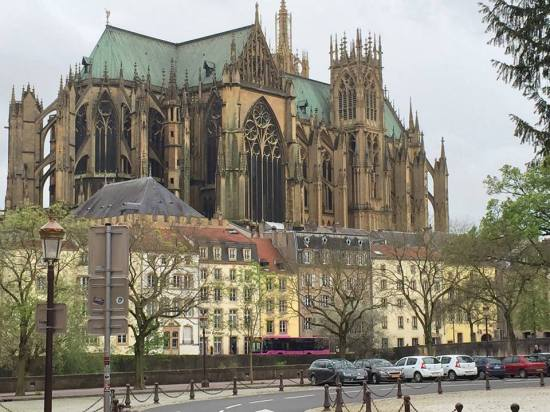 Cathedral and buildings, Metz