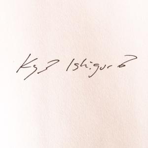 Kazuo Ishiguro authograph